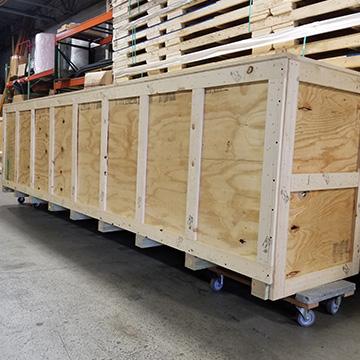 custom wood crate